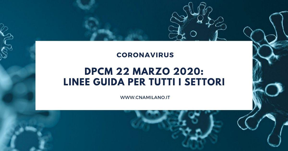 Nuovo DPCM del 22 marzo 2020